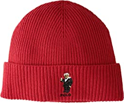Santa Hat Martini Bear Cuff Hat
