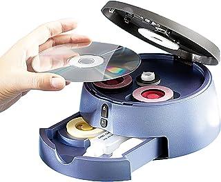 Q-Sonic Discos compactos Limpiador: Juego de Limpieza y reparación de CD/DVD/BLU-Ray Pro III (DVD Kit de reparación)