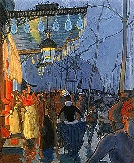 Louis Anquetin Avenue de Clichy, le soir, Cinq Heures Private Collection 30