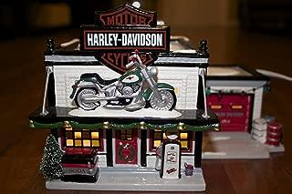 Dept 56 Snow Village Harley Davidson Motorcycle Shop