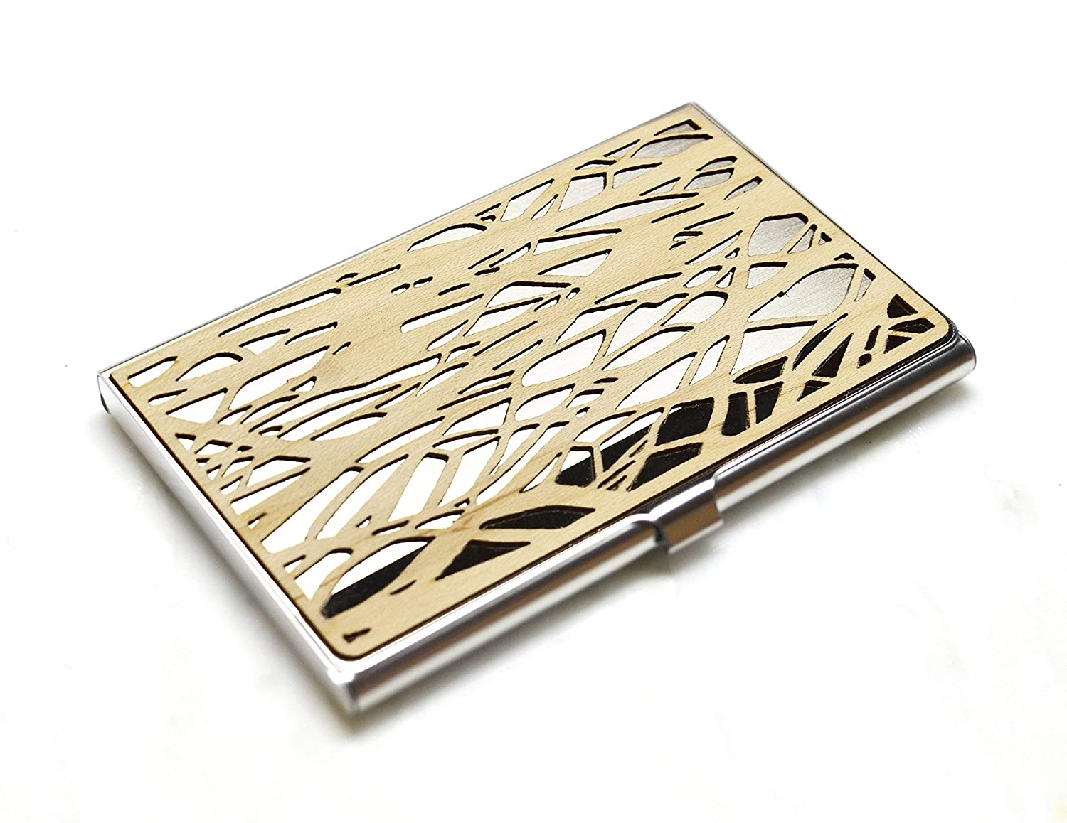 Wood business free shipping card case - Branches Discount is also underway credit