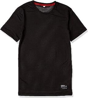 [エーショ-ン] インナーシャツ オールシーズン 機能性インナー クレーターメッシュ 半袖シャツ メンズ