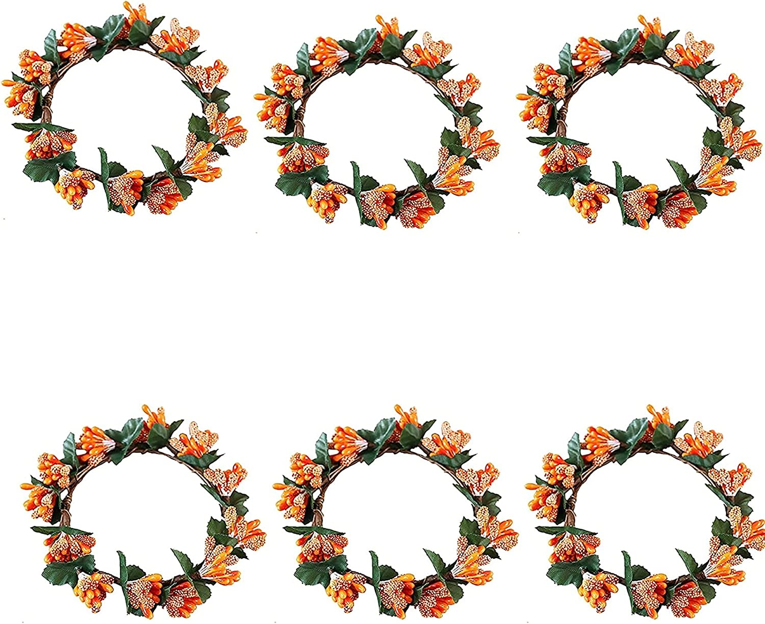 Raheem Christmas Candle Ring Wreaths Min Fall Berry Max 72% OFF Garland 5 ☆ very popular Twig