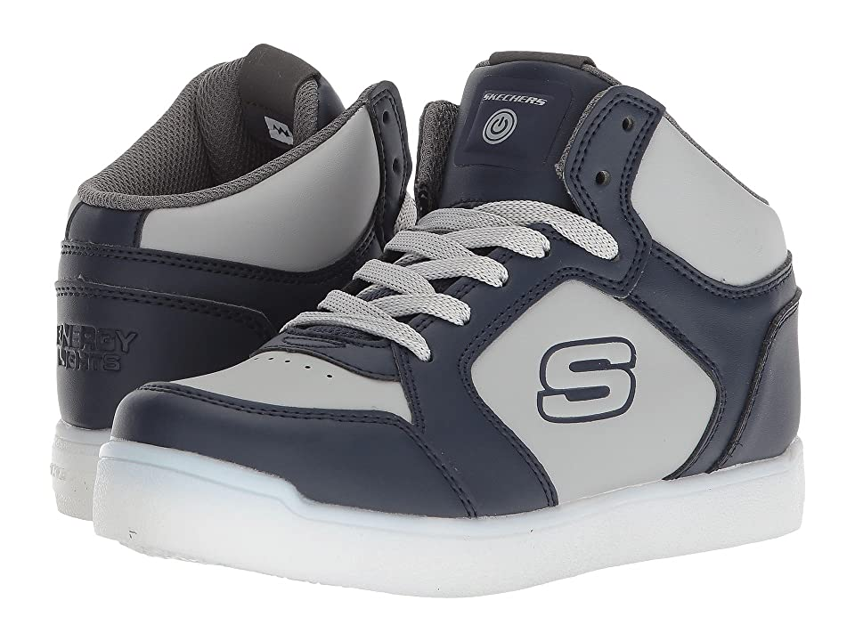 SKECHERS KIDS Energy 90610L Lights (Little Kid/Big Kid) (Navy/Grey) Boy