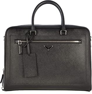 Luxury Fashion | Prada Mens 2VE016VOOO9Z2F0002 Black Messenger Bag | Fall Winter 19