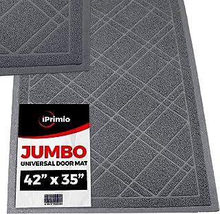 """SlipToGrip Universal Gray Door Mat with DuraLoop - Jumbo 42""""x35"""" Outdoor Indoor Entrance Doormat - Waterproof - Low Profile Door Mat - Welcome - Front Door, Garage, Patio"""