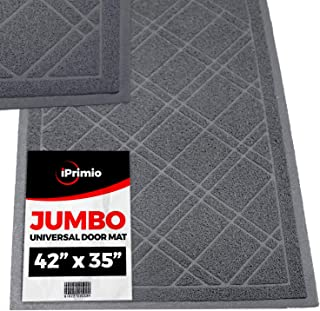 SlipToGrip Universal Gray Door Mat with DuraLoop - Jumbo 42