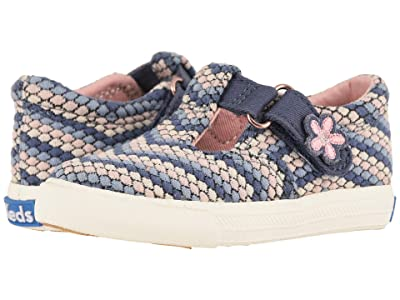 Keds Kids Daphne (Toddler/Little Kid) (Blue Dot Stripe) Girl