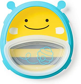 Skip Hop Baby Plate and Bowl Set, Bee/Yellow/Black/Blue