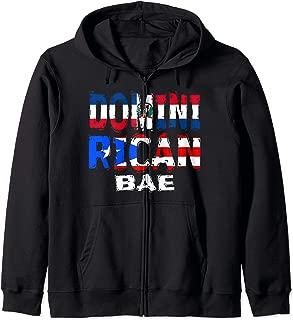 Dominirican BAE Half Dominican Half Puerto Rican Zip Hoodie