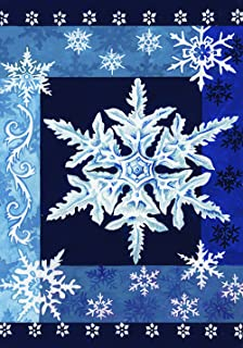 Toland Home Garden Cool Snowflakes 12.5 x 18 Inch Decorative Blue Winter Snowflake Garden Flag - 112532