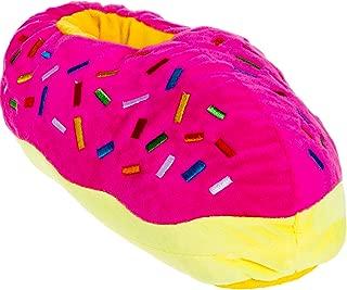 Novelty Slippers - Plush Donut Dessert Food Slippers