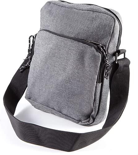 Anladia Mens Bag Messenger Bag Shoulder Bags Travel Bag Man Purse Crossbody Bags for Work Business (Dark Grey)