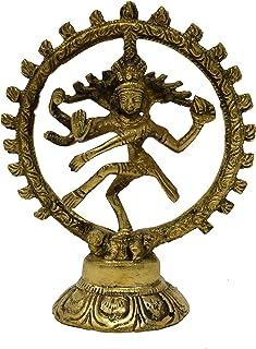 Hashcart Idol Lord Shiva Dancing Natraj/Nataraja Statue Brass Handcrafted Decorative Sculpture