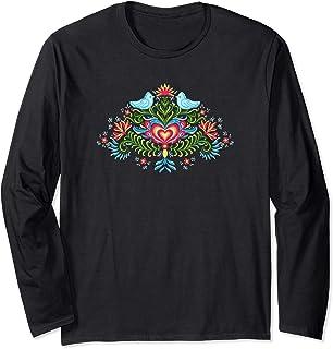 Scandinavian Norwegian Rosemaling Norway Women Long Sleeve T-Shirt