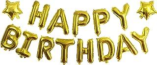 ZZART Happy Birthday Balloons Banner & Gold Star Foil Balloon,Foil Balloons for Happy Birthday Party,Baby Shower Decoration(Z19)
