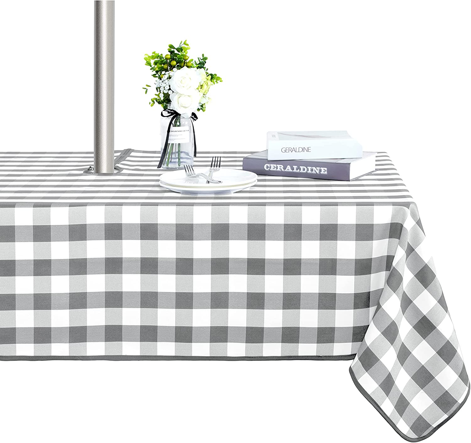 LUSHVIDA famous Checkered Table Cover Large-scale sale Outdoor - Tablecloth Indoor and W