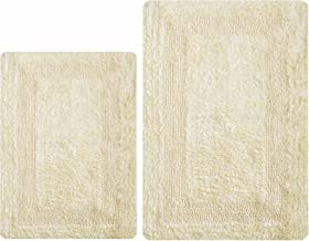 Bathroom Rugs Set 2Piece in 100% Cotton 21x34/17x24 Lemon Yellow, Reversible Bath Rugs Set, Cotton Bath Mat,Cotton Bath Ru...