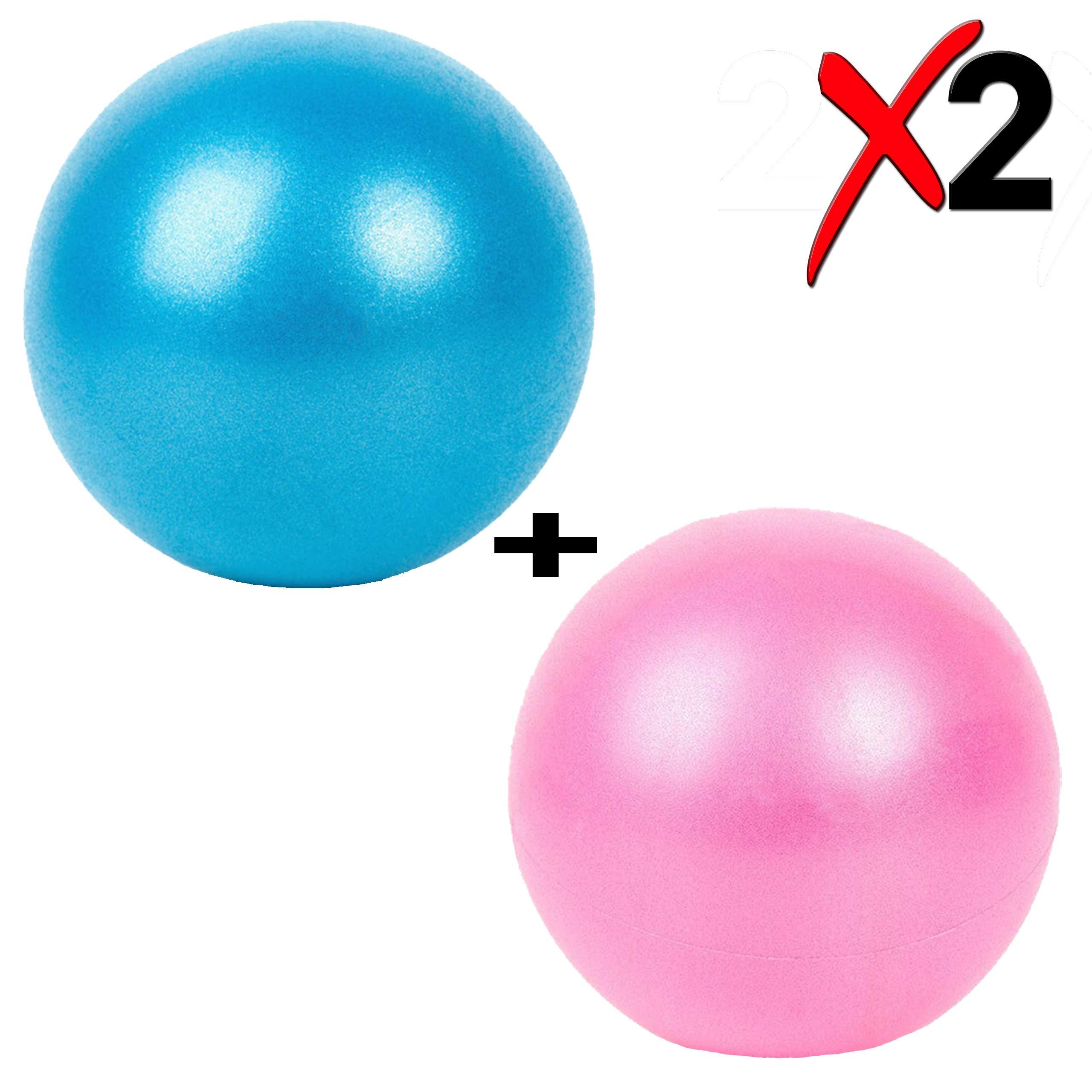 Slosy Pelota para Pilates Accesorios Gym Bola De Yoga Pack 2 Material De Gimnasio Balón Pequeño para Embarazadas De 25cm Entrenamiento Mini Ball Rosa Azul Mejora la Postura Rehabilitación: Amazon.es: Deportes y