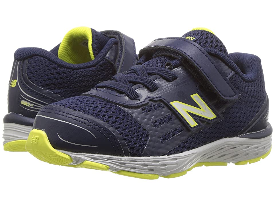 New Balance Kids KA680v5I (Infant/Toddler) (Pigment/Limeade) Boys Shoes