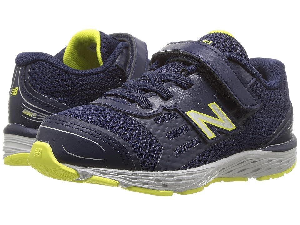 New Balance Kids KA680v5I (Infant/Toddler) (Pigment/Limeade) Boys Shoes