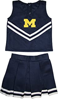 University of Michigan Wolverines Toddler and Youth 3-Piece Cheerleader Dress