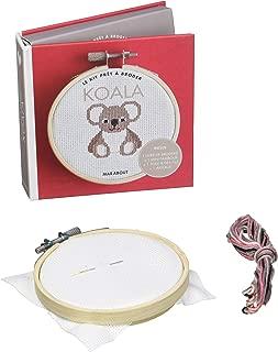 Koala : Inclus 1 livre de broderie + 1 mini-tambour + 1 toile & des fils + 1 aiguille