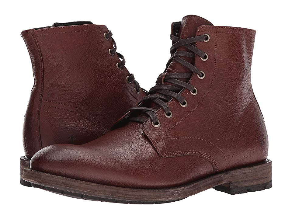 Frye Bowery Lace-Up (Copper Buffalo Leather) Men