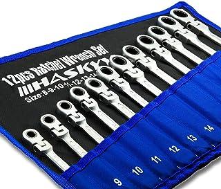 Kombinationsnyckelsats 12 st I spärrnyckel I sats 8–19mm I kombinationsnyckelsats