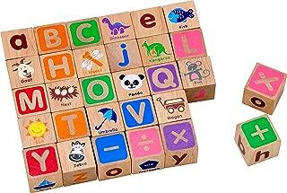 (アイムトイ)I'mTOY 積み木 ABCブロックス アルファベット [木のおもちゃ 30ピース 1歳~] 木製 知育玩具 パズル (数字 記号 イラスト)