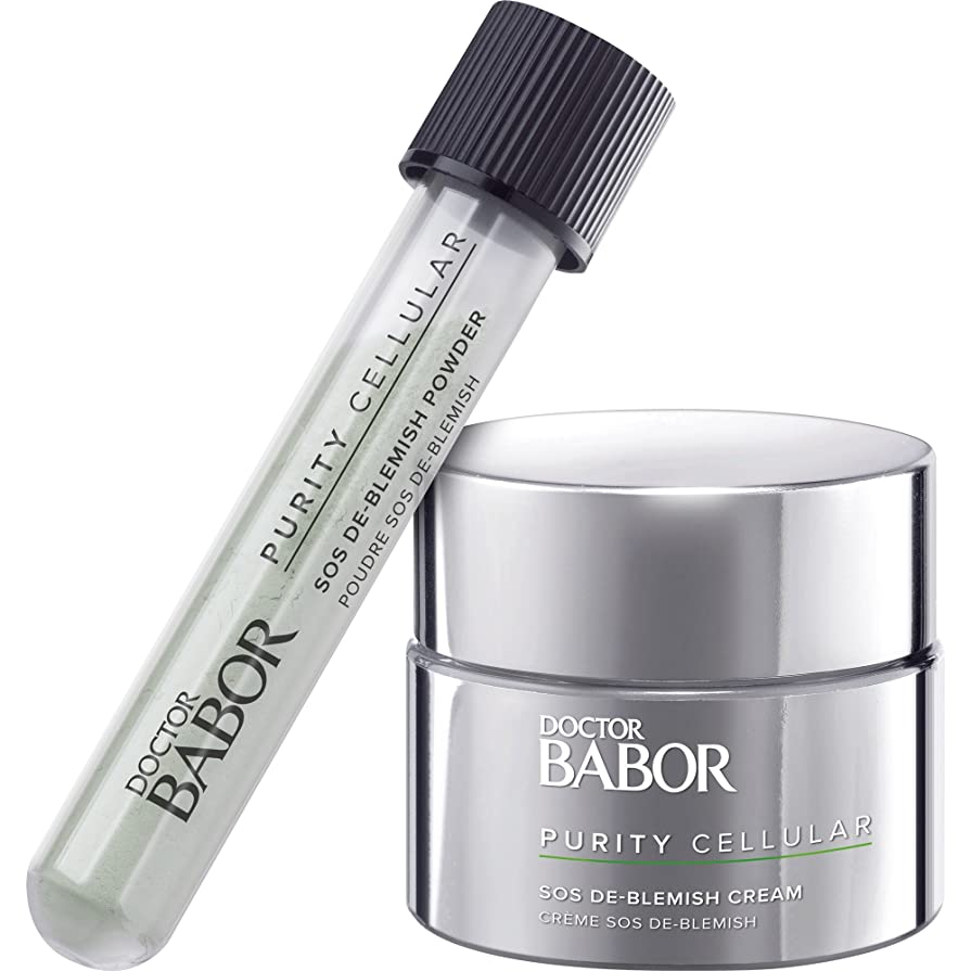 爆弾トリプル研究所バボール Doctor Babor Purity Cellular SOS De-Blemish Kit: De-Blemish Cream 50ml/1.7oz + De-Blemish Powder 5g/0.16oz 2pcs並行輸入品