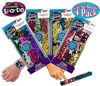 Cra-Z-Art Shimmer 'n Sparkle Magic Sequin Slap Bracelets 3 Pack Sets Gift Set Party Bundle - 4 Pack (12 Bracelets Total)
