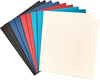 Amazon Basics Two Pocket Paper Portfolio, Assorted Colors, 10-Pack