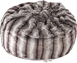 Faux Fur Bean Bag Chair Luxury and Comfy Big Beanless Bag Chairs Plush Furry Chair Soft Sofa Lounger for Adults and Kids,S...