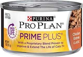 Purina Pro Plan Weight Control, Grain Free Senior Pate Wet Cat Food, PRIME PLUS Chicken Entree - (24) 3 oz. Pull-Top Cans