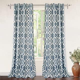 blue trellis curtains