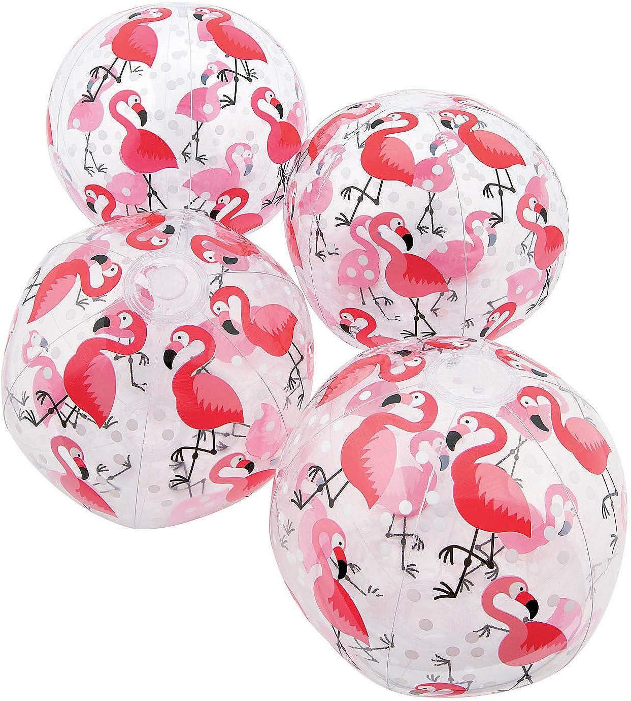 Fun Express Oakland Mall Flamingo Print Beach Pieces Safety and trust - 12 Balls Toys