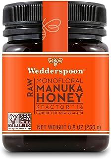 Wedderspoon Raw Premium Manuka Honey KFactor 16, 8.8 Oz, Unpasteurized, Genuine New Zealand Honey, Multi-Functional, Non-G...