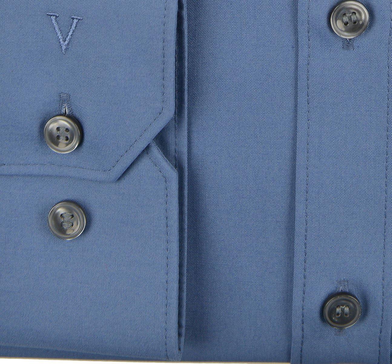 Marvelis Camisa Body Fit manga larga f/ácil de planchar 41 azul cielo Azul ahumado