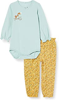 Name It Baby_Girl's NBFLINEA LS Body Set Bodysuit