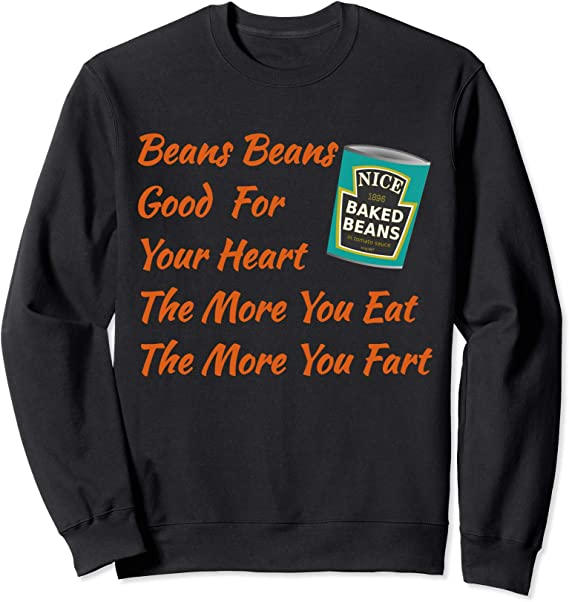 Baked Beans Novelty Funny Food Farting Girls Unisex Kids Child T Shirt