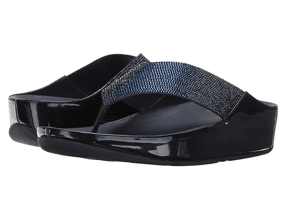 b4a446fa3c30 FitFlop Crystall Toe Post (Supernavy) Women s Sandals