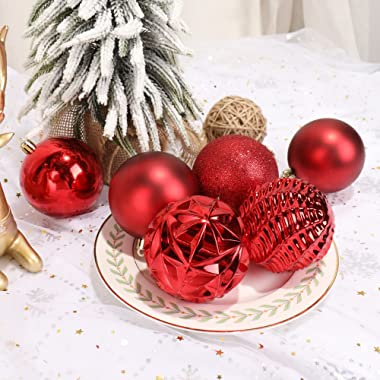 """ISULIFE Christmas Ball Ornaments(3.15"""",Red) 20ct Shatterproof Christmas Tree Ball Ornaments,Decorations for Xmas Tree Wed"""