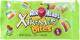 AIRHEADS XTREMES BITES SWEETLY SOUR CANDY PACK, RAINBOW BERRY, PARTY, 2 OUNCE