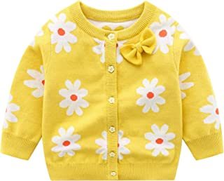 Vivobiniya Baby Girl Cardigan Toddler Girl Knit Sweater Girl Winter Clothes