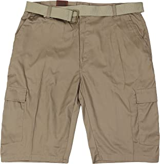 87e5dd62f5 LR Scoop Men's Casual Golf Belted Cargo Dress Shorts Big Plus Sizes