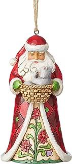 Enesco Jim Shore Heartwood Creek Santa with Kitten Ornament