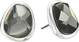 Robert Lee Morris Black Diamond and Silver Stud Earrings