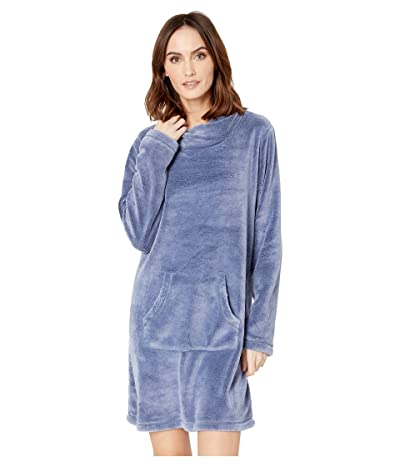 Mod-o-doc Plush Sherpa Twisted Collar Lounge Dress (Blueprint) Women