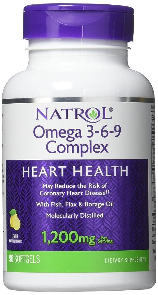感謝祭ブロック発揮するNatrol - Omega 3-6-9 Complex, 90 softgels by Natrol